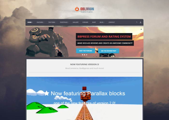 Oblivion – Premium Responsive MultiPurpose Gaming WordPress Theme