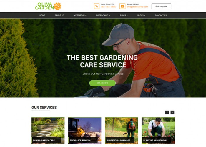 Oliva Garden – Premium Responsive Garden Company HTML5 Template
