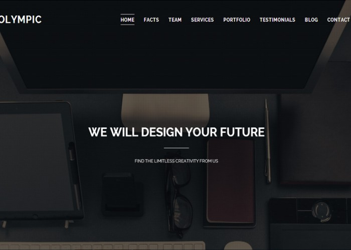 Olympic – Premium Responsive One Page Parallax HTML5 Template