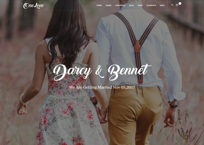 OneLove – Premium Responsive Elegant & Clean Wedding WordPress Theme