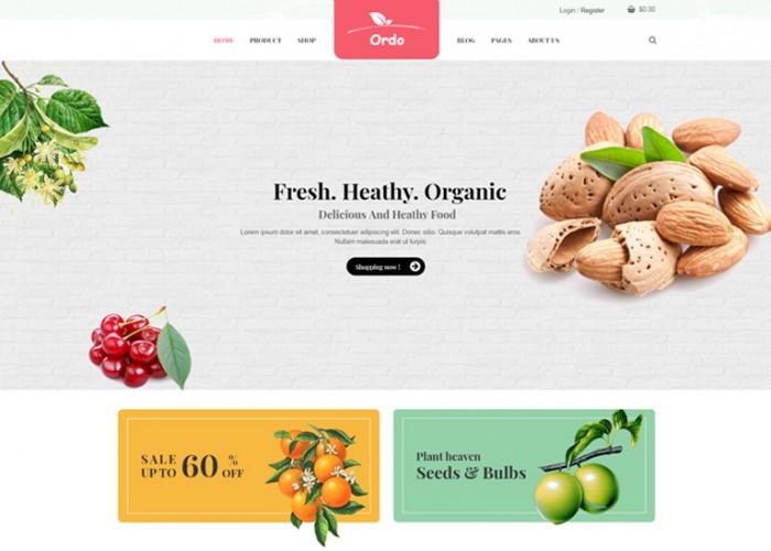 Ordo – Premium Responsive Organic WooCommerce WordPress Theme