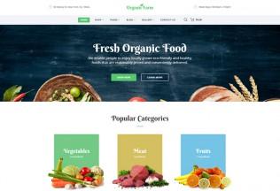 Organic Farm – Premium Responsive Food HTML5 Template