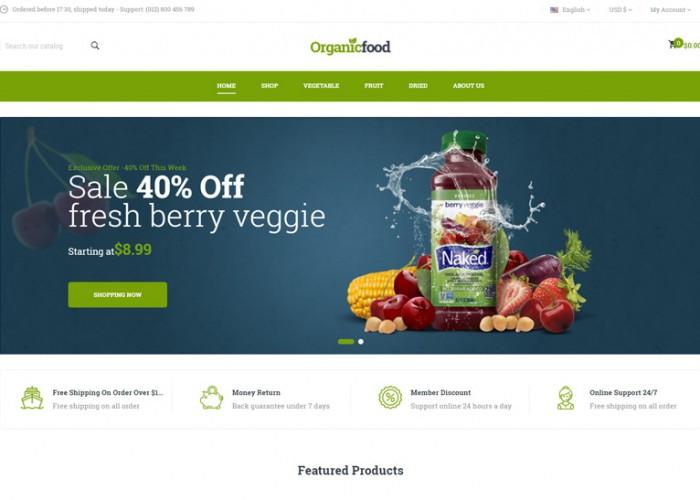 OrganicFood – Premium Responsive Food PrestaShop Theme