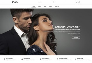 Osapa – Premium Responsive Fashion WooCommerce WordPress Theme