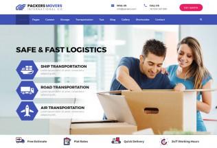 Packers & Movers – Premium Responsive Domestic Logistics WordPress Theme