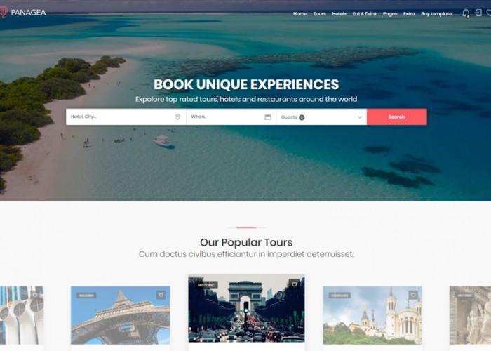Panagea – Premium Responsive Travel HTML5 Template