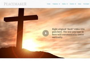 Peacemaker – Premium Responsive WordPress Theme for Churches
