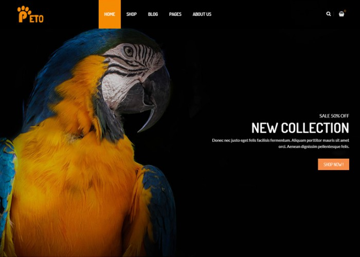 Peto – Premium Responsive WooCommerce WordPress Theme for Pets and Vets