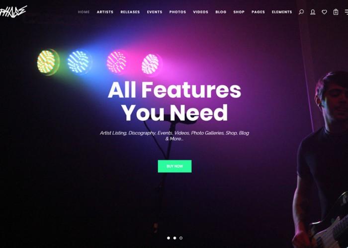 Phase – Premium Responsive Music WordPress Theme