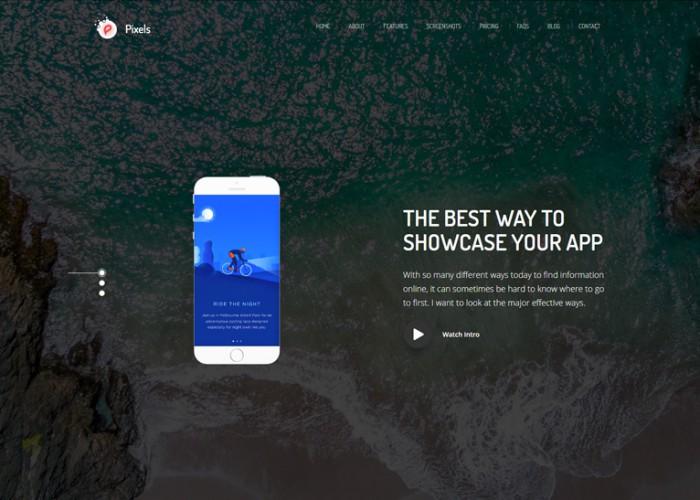 Pixels – Premium Responsive Creative App Landing HTML5 Template