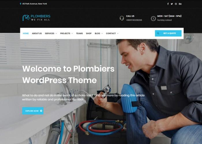 Plombiers – Premium Responsive Plumber WordPress Theme