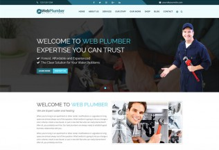 Plumber – Premium Responsive Construction and Plumber HTML5 Template