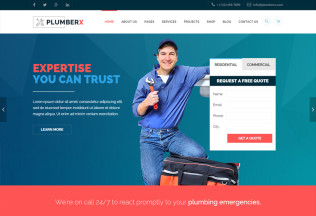 Plumberx – Premium Responsive Plumbing and Construction HTML5 Template