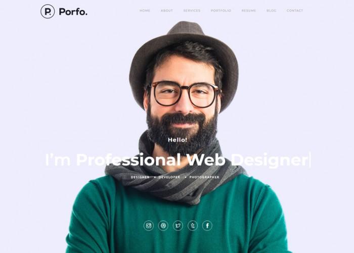 Porfo – Premium Responsive Minimal Personal WordPress Theme