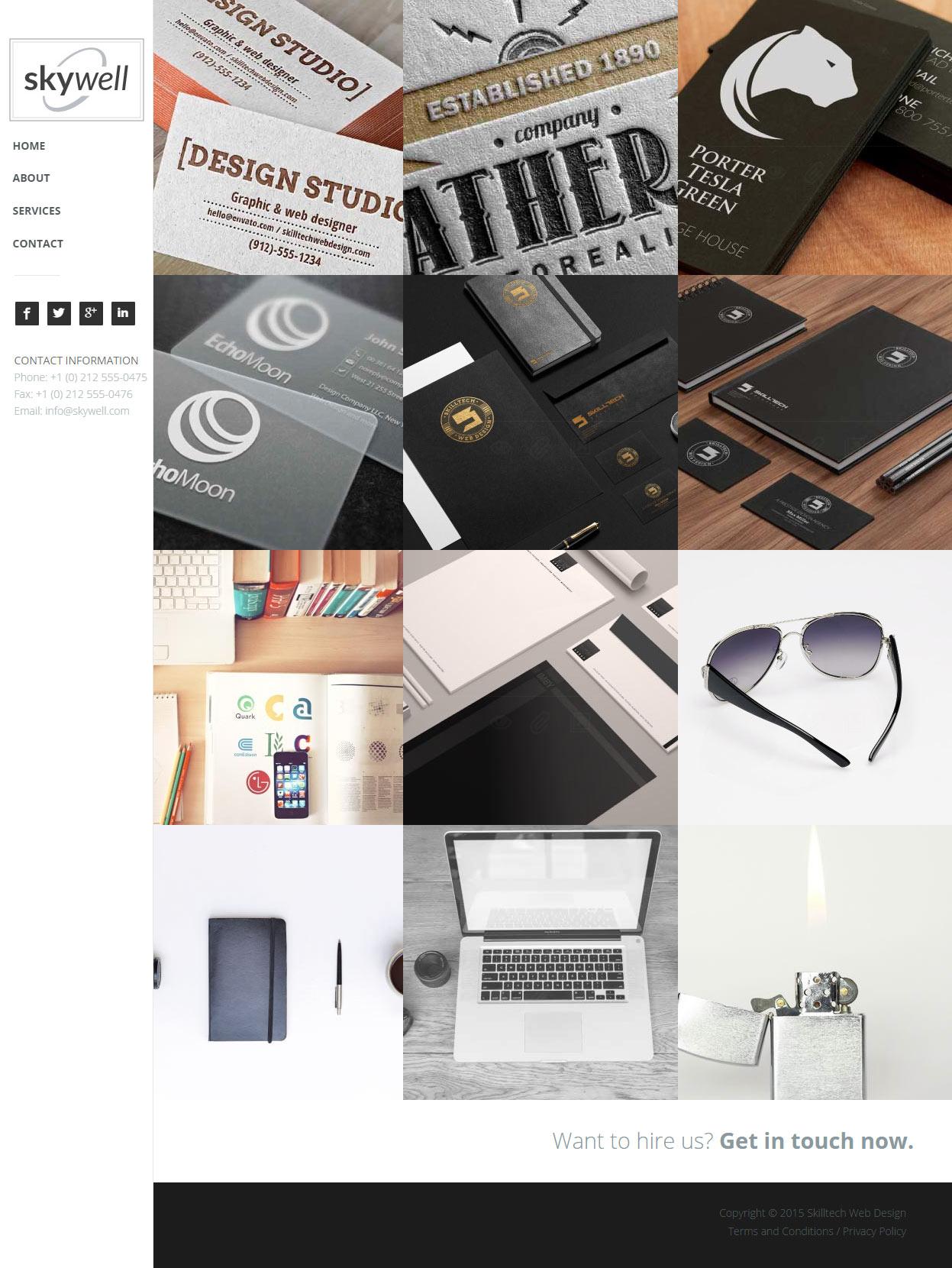 25+ Best Adobe Muse Portfolio Templates 2017 - Responsive Miracle