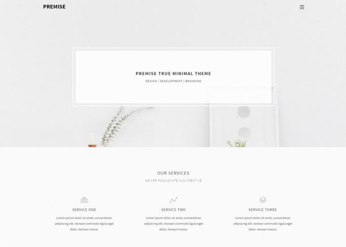 Premise – Premium Responsive Minimal Portfolio HTML5 Template