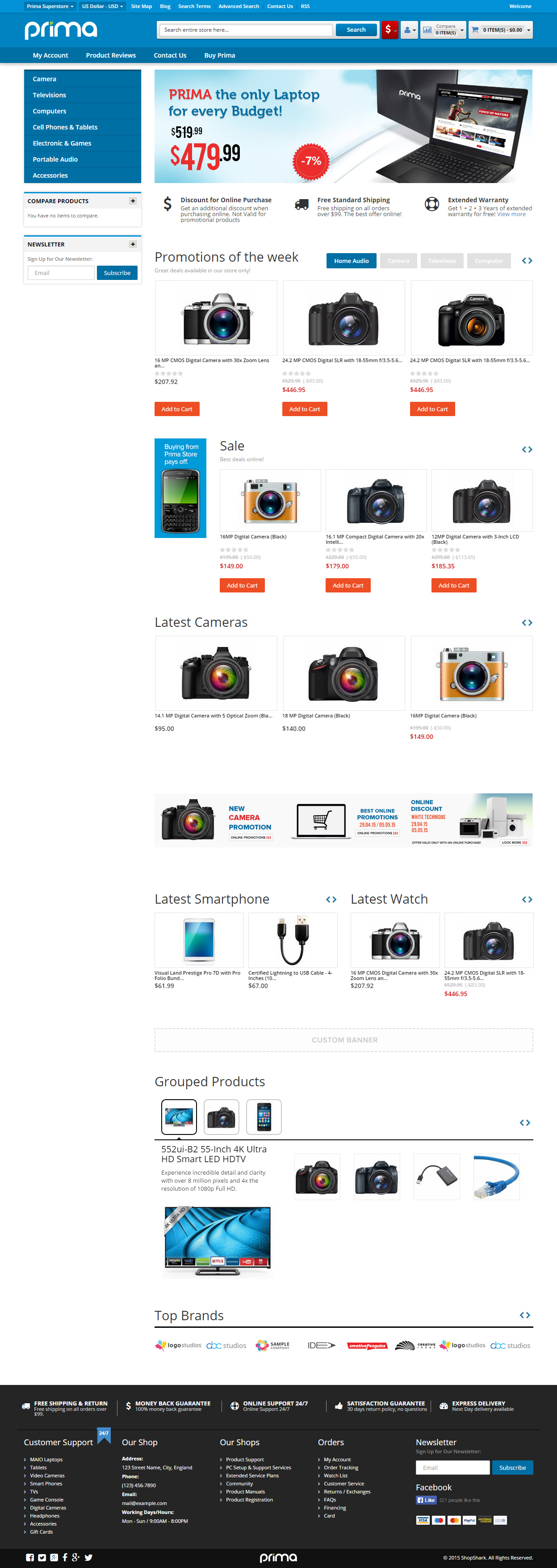 55 best responsive magento bootstrap 3 themes in 2015 responsive 7 new widgets and fully customizable colors and fonts and many more prima includes the latest magento 1911 plus the security patch supee 5994 fandeluxe Images