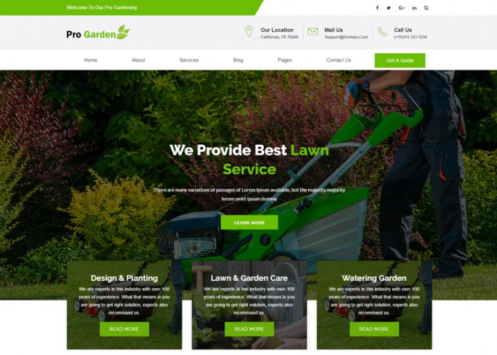 Pro Garden – Premium Responsive Gardening HTML5 Template