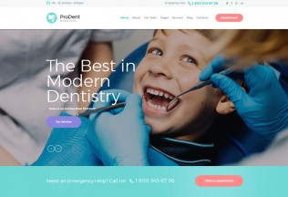 ProDent – Premium Responsive Dental Clinic & Healthcare WordPress Theme