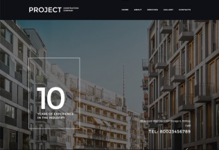Project – Premium Responsive Construction Company HTML5 Template