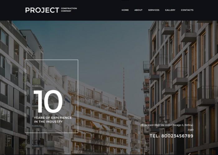 Project – Premium Responsive Construction Company HTML5 Template