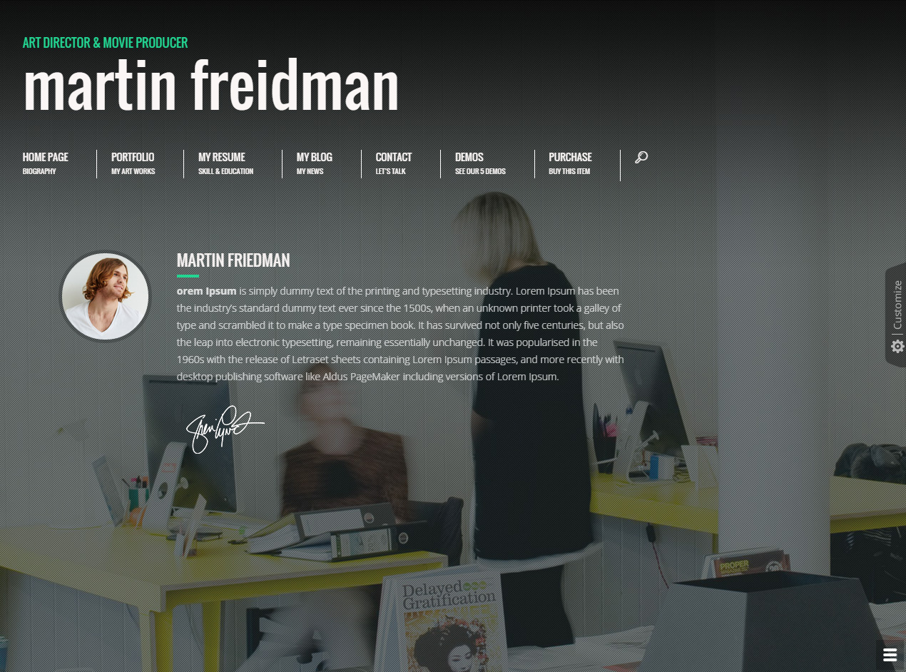 promotion wordpress resume theme - Wordpress Resume Template