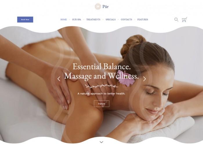 Pur – Premium Responsive Spa Wellness WordPress Theme