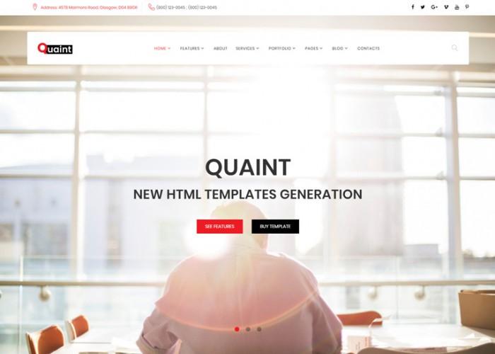Quaint – Premium Responsive Business Multipurpose HTML5 Template