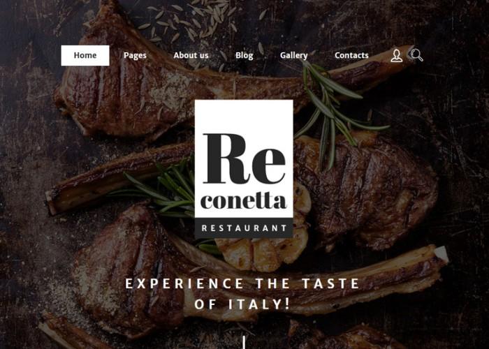 Re conetta – Premium Responsive Restaurant Joomla Template