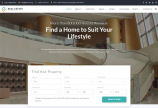 Real Estate – Premium Responsive Accommodation HTML5 Template