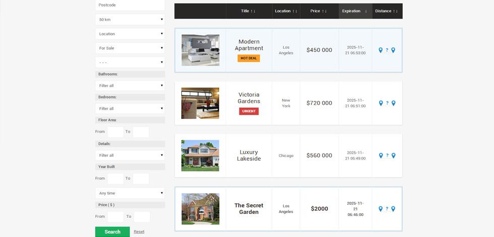 Real Estate Classifieds Premium Responsive Joomla Template