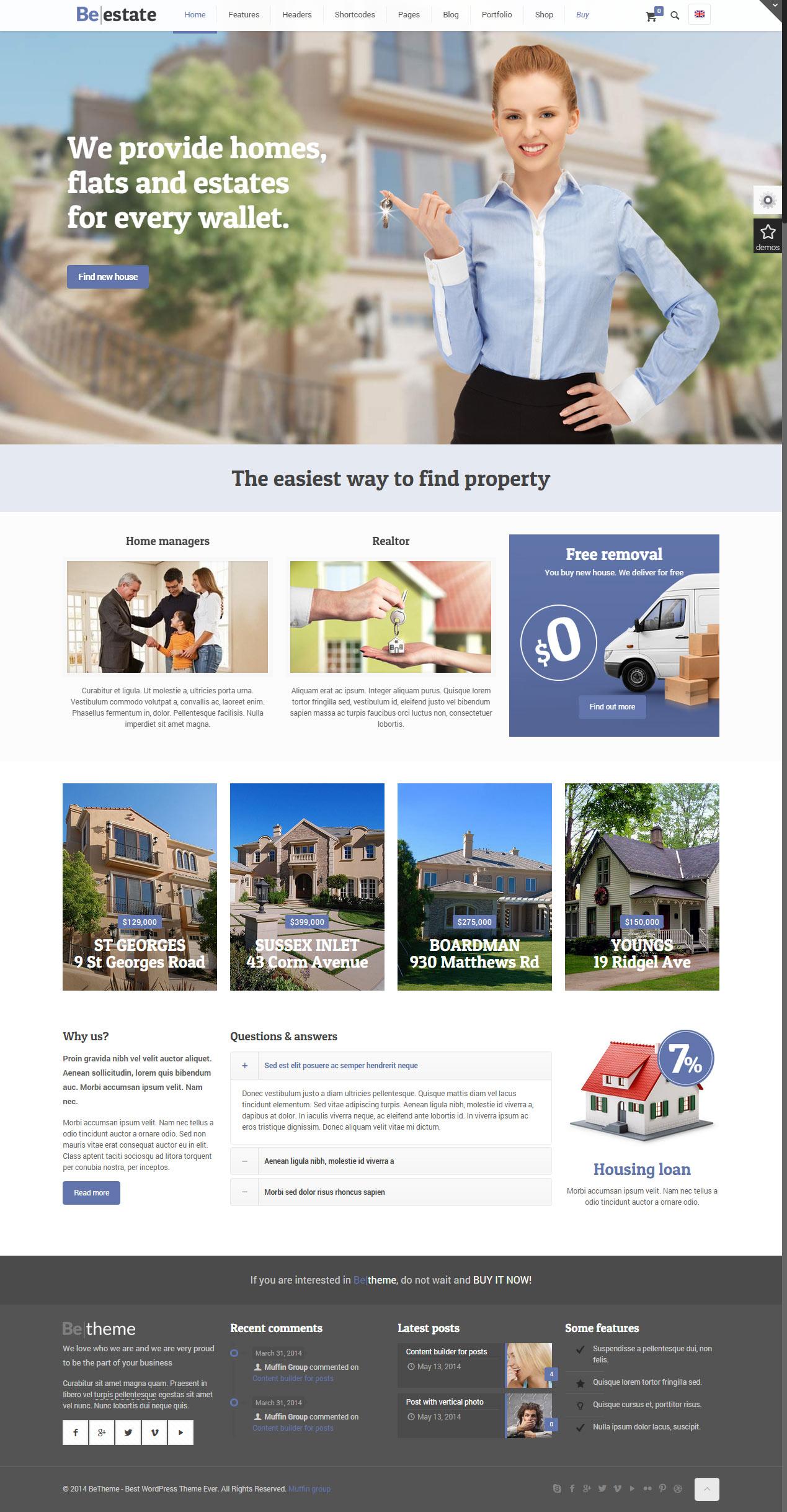 New Real Estate Websites