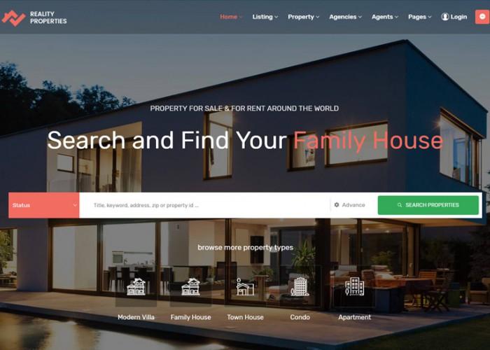Reality – Premium Responsive Real Estate WordPress Theme