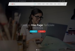 Reone – Premium Resposnive One Page Parallax HTML5 Template