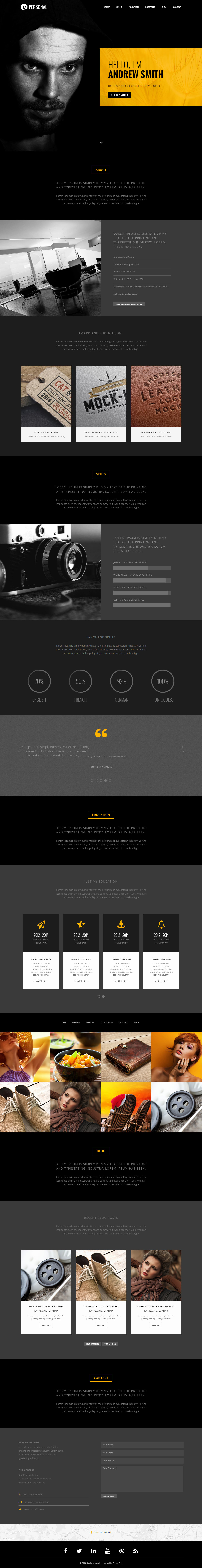 15 best resume and cv website template 2017 responsive miracle sturlly resume and cv website template