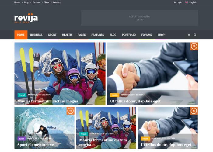 Revija – Premium Responsive Blog/Magazine Drupal Theme