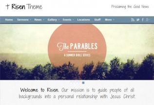 Risen – Premium Responsive WordPress Church Theme