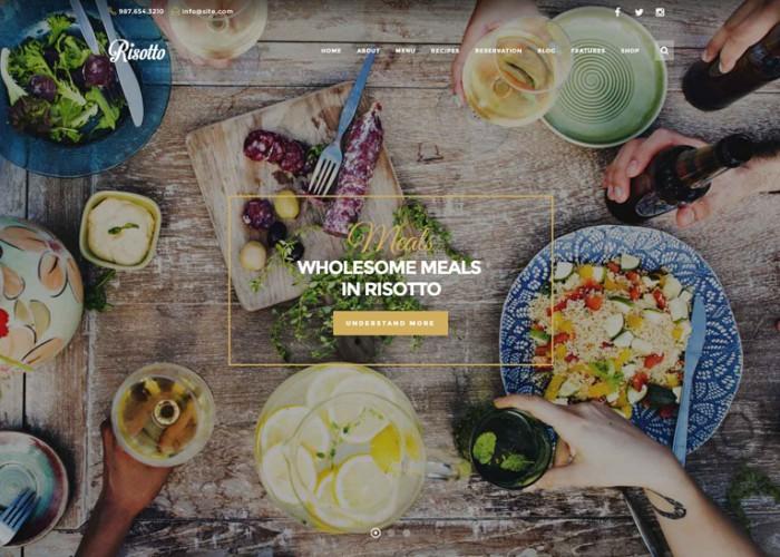 Risotto – Premium Responsive Restaurant & Cafe WordPress Theme