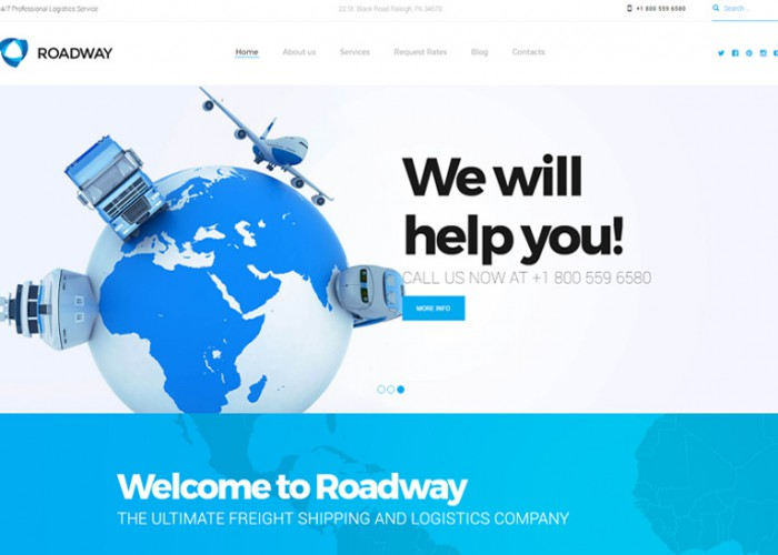 Roadway – Premium Responsive Transportation Services WordPress Theme