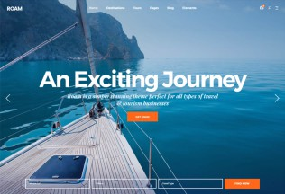 Roam – Premium Responisve Travel and Tourism WordPress Theme