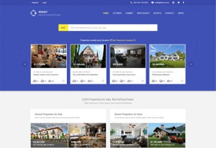 Roost – Premium Responsive Material Design Real Estate and Dashboard HTML5 Template