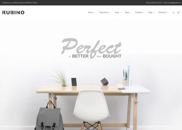 Rubino – Premium Responsive Minimal & Creative WooCommerce WordPress Theme