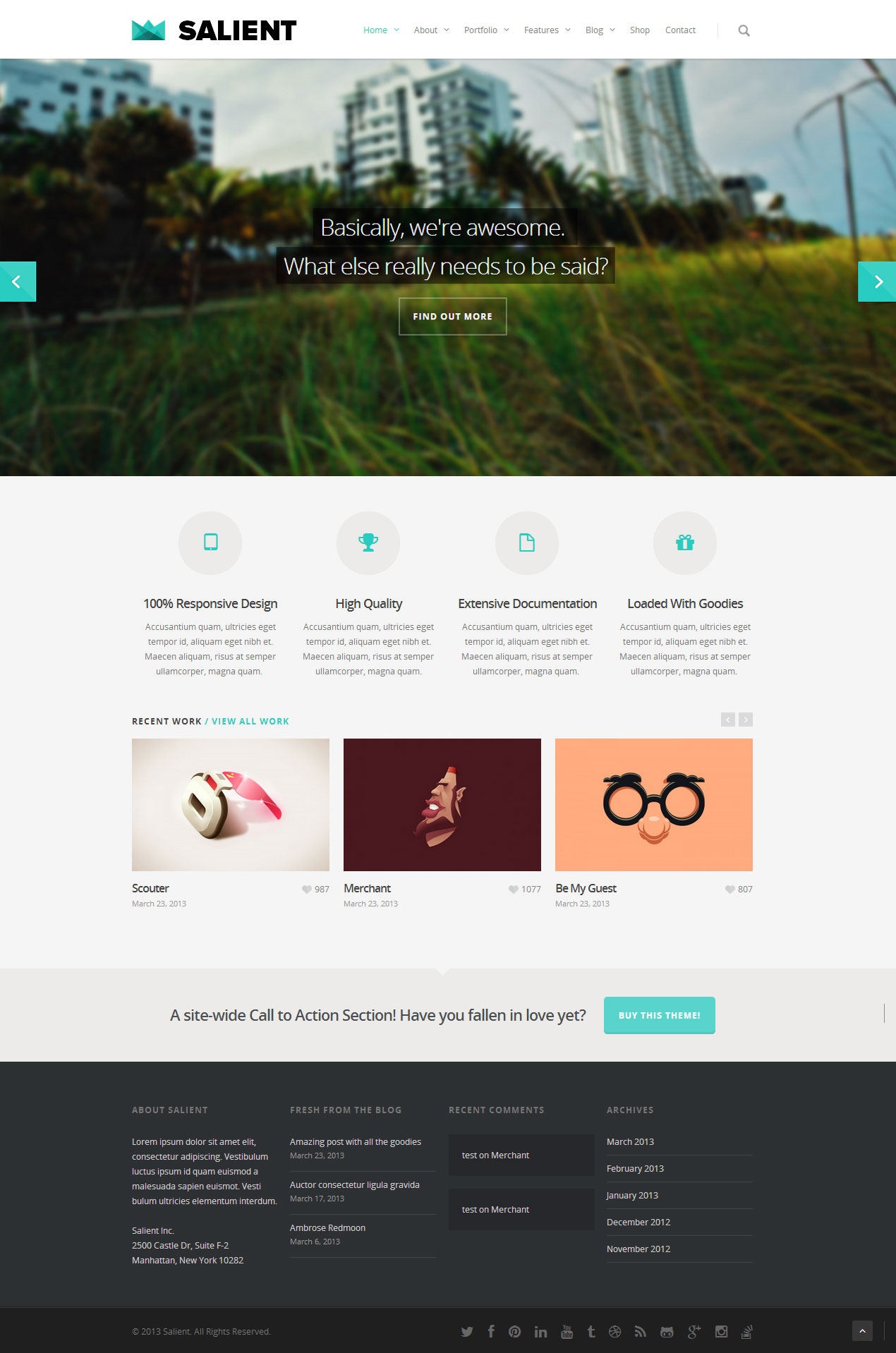 Salient - Premium Responsive Wordpress Theme - Free Demo