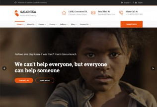Salonika – Premium Responsive Charity/Fundraising WordPress Theme