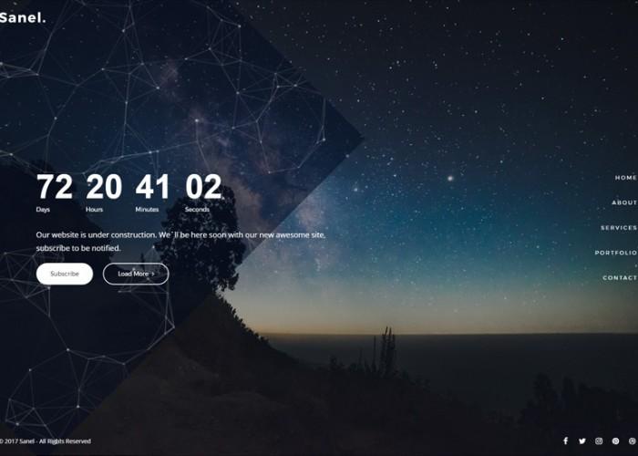 Sanel – Premium Responsive Creative Coming Soon HTML5 Template