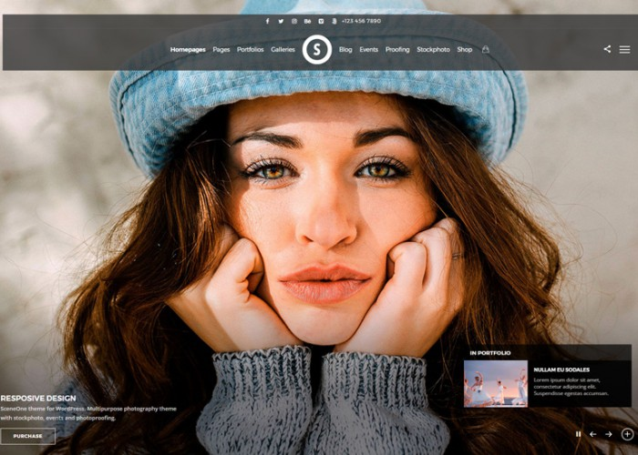 SceneOne – Premium Responsive Photography WordPress Theme