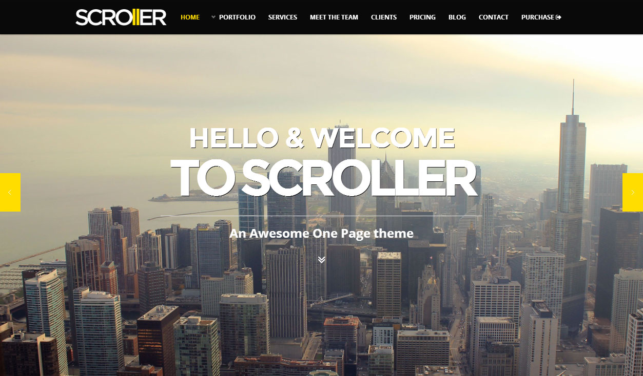 Scroller - Responsive Parallax WordPress Theme - ThemeForest FreeDemo