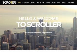 Scroller – Premium Responsive Parallax WordPress Theme