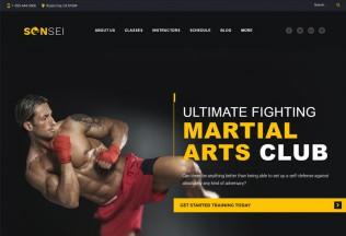 Sensei – Premium Responsive Martial Arts WordPress Theme