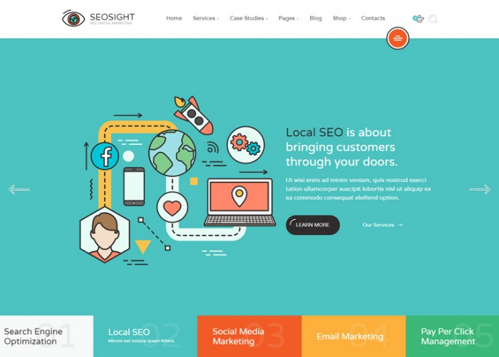 Seosight – Premium Responsive SEO, Digital Marketing Agency HTML5 Template